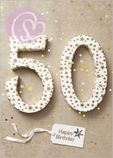 Klappkarte 50, Happy Birthday