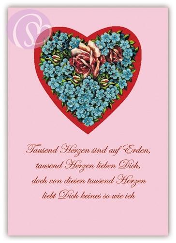 Engolino, Postkarte Tausend Herzen  - schreib-mal