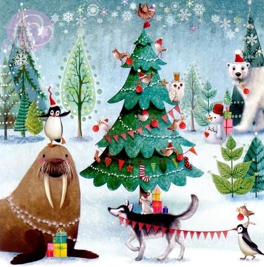 mila marquis postkarte weihnachten im wald schreib mal. Black Bedroom Furniture Sets. Home Design Ideas