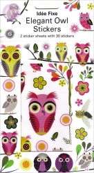 Elegant Owl Stickers