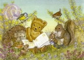 Postkarte Read Us a Story, Teddy