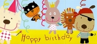 Fold'n Please - »Happy Birthday« Cat, Rabbit, Pirate & Co.