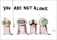 Postkarte You are not alone