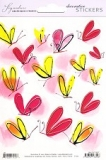 Sticker Illustrated Colorful Butterfly